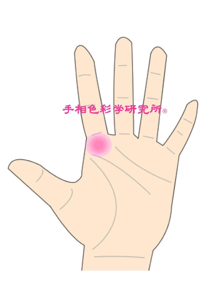 手相色彩学研究所®【木星丘】