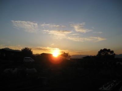 2011/11/1夕陽