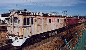 利府駅構内のED71 (2002年1月撮影)