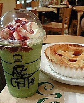 抹茶フラペ+アズキソーズ