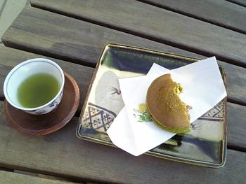 お茶+どら焼