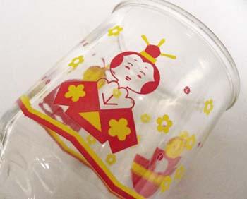 ひな人形グラス2