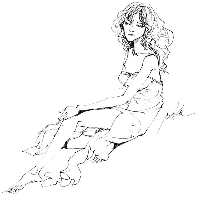 ヌードデッサン女姓makoイラスト