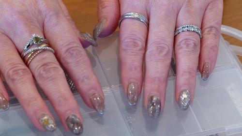 Halloween Blood Hand Painted False Fake Nails Size Medium Medium Round Oval