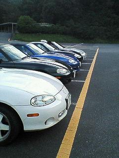 駐車場で仲良く(前)