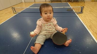 卓球とハナ