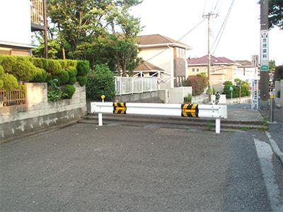 六浦のガードレール