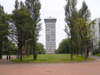 横浜薬科大学図書館塔