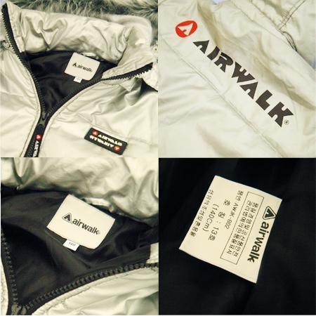 【キッズ】AIR WALK◆ファーフード付き中綿ジャケット140cm