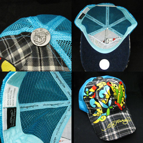 【Ed Hardy】エドハーディー<アウトレット>BUTTERFLY PLAID CAP