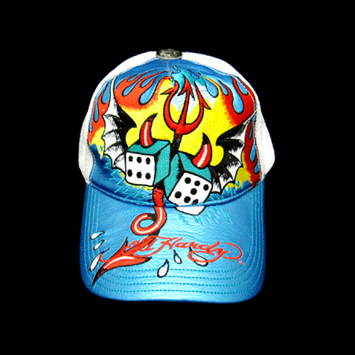 【Ed Hardy】エドハーディー<アウトレット>ROLLING STONES LEATHER CAP