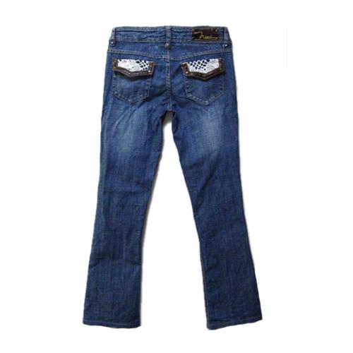 【レディース】nissi jeans◆レースデザインブーツカットジーンズ(US5)