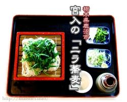 宮入・ニラ蕎麦