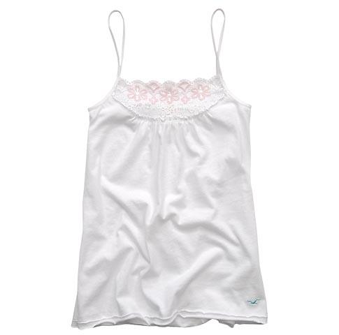 ★【ホリスター】Scripps Park Lace Tank(ホワイト)