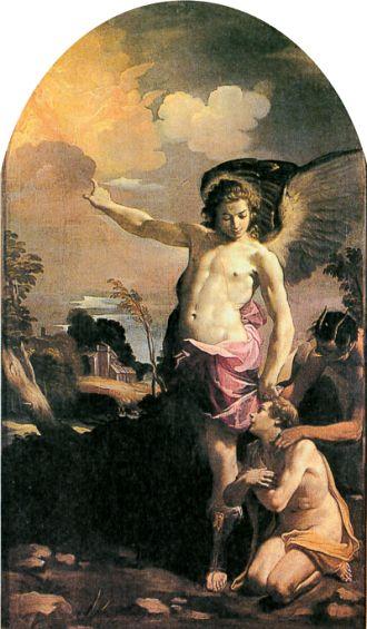 天使の絵画守護天使