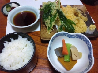 高原庵 天ぷら定食