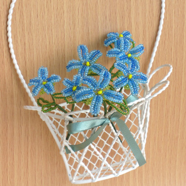 体験Blue Flower Basket