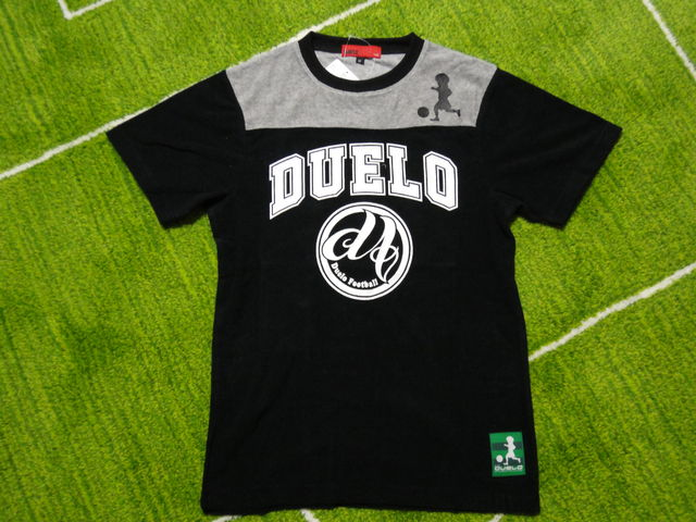 DUELO SS 切替 パイル T-SHIRTS No,383 フロント 黒.jpg