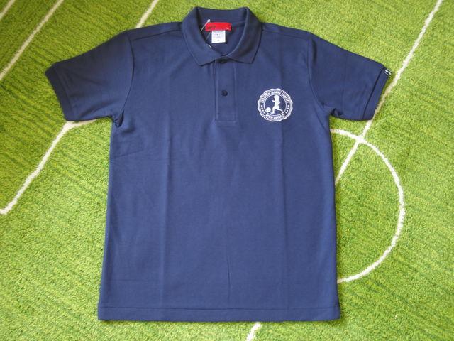 DUELO 刺繍 ポロシャツ 紺 フロント.jpg
