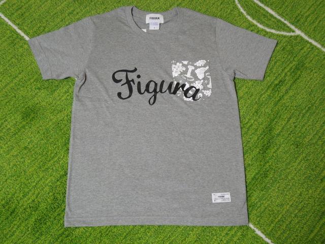 FIGURA Tシャツ FIG-T008 灰 フロント.jpg