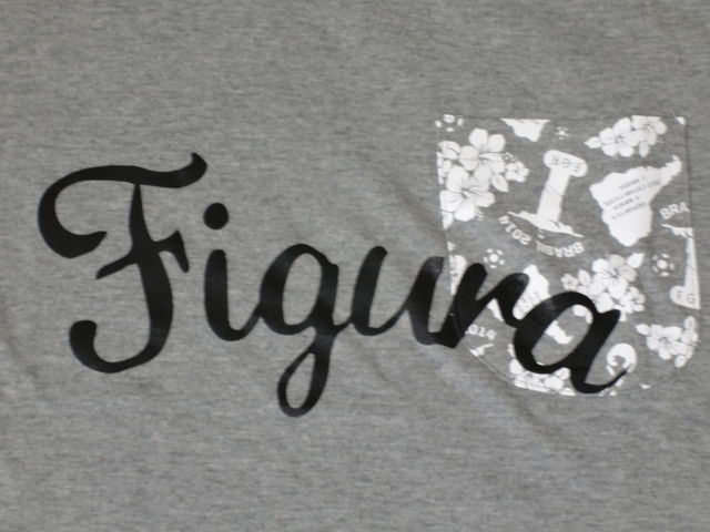 FIGURA Tシャツ FIG-T008 灰 フロント拡大 2.jpg