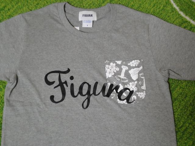 FIGURA Tシャツ FIG-T008 灰 フロント拡大.jpg