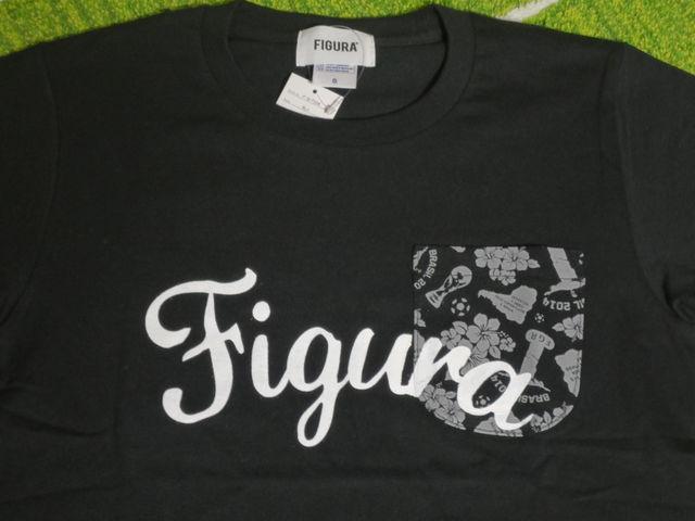 FIGURA Tシャツ FIG-T008 黒 フロント拡大.jpg