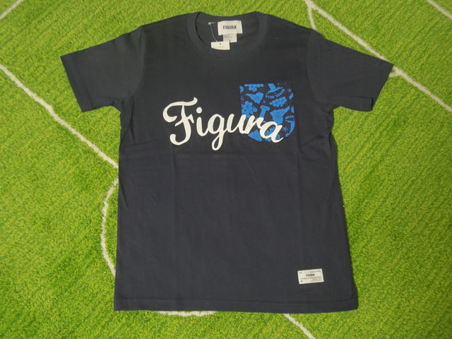 FIGURA Tシャツ FIG-T008 紺 フロント.jpg