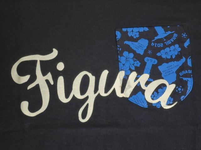 FIGURA Tシャツ FIG-T008 紺 フロント拡大 2.jpg
