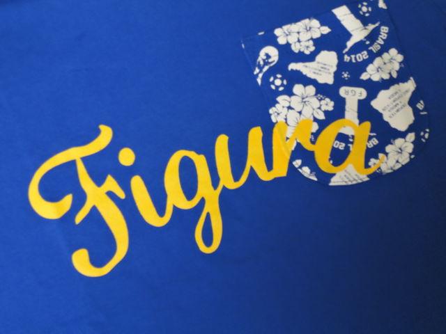 FIGURA Tシャツ FIG-T008 青 フロント拡大 2.jpg