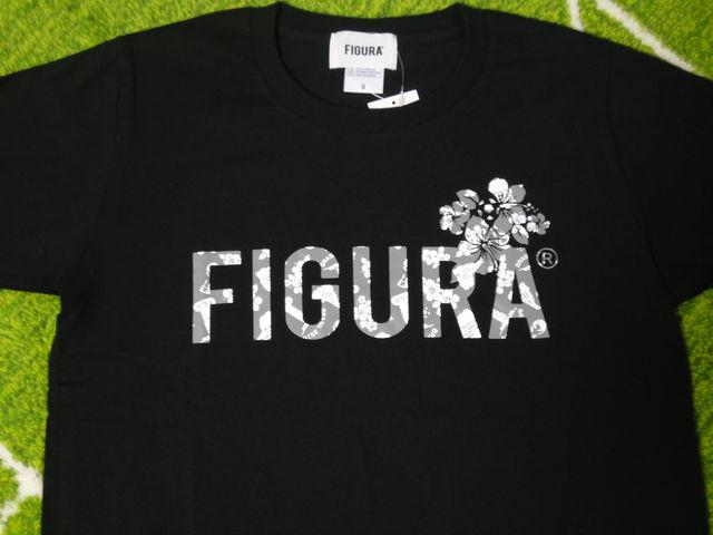FIGURA Tシャツ FIG-T010 黒 フロント拡大.jpg
