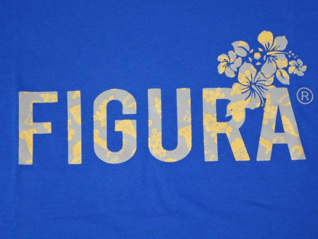 FIGURA Tシャツ FIG-T010 青 フロント拡大 2.jpg