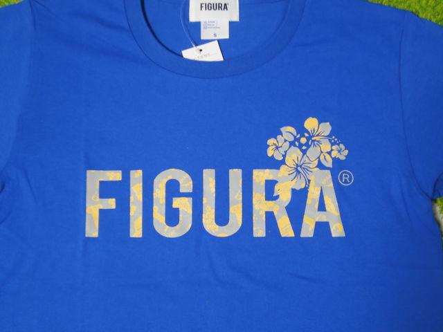 FIGURA Tシャツ FIG-T010 青 フロント拡大.jpg