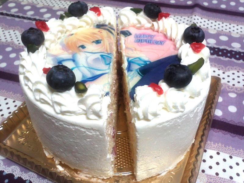 ケーキぱっくり