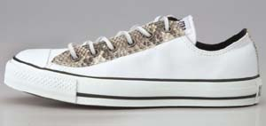 converse all star real ox white snake コンバース オールスター リアル OX 白ヘビ蛇 32161320