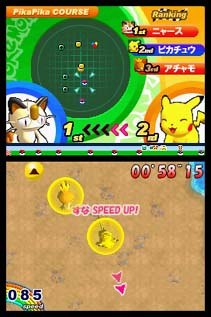 ニンテンドーDS「ポケモンダッシュ」のゲーム画面