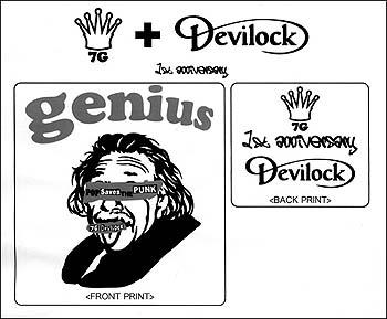 7g 1st-annibersary S/S [7g×devilock w-name] セブンジー 1周年記念Tシャツ「セブンジー×デビロック Wネーム」