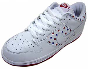 nike wmns dunk low [independence day](311369-111) ナイキ ダンク ロー 「アメリカ独立記念日 スター」