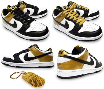 nike dunk low [france courir 2nd](309431-103) ナイキ ダンク ロー 「フランス COURIR別注カラー2nd」(黒/金)