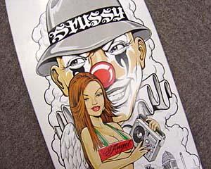 stussy deck [mr.cartoonモデル] ミスター カートゥーン ステューシー スケートボードデッキ