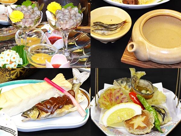 鮎料理 2