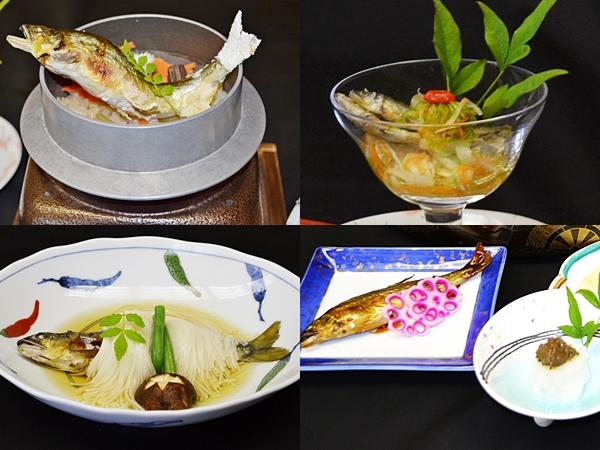 鮎料理 3