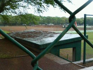 野球場の工事
