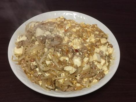 豚挽肉+もやし+豆腐