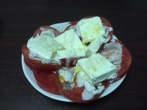 トマトとクリームチーズ