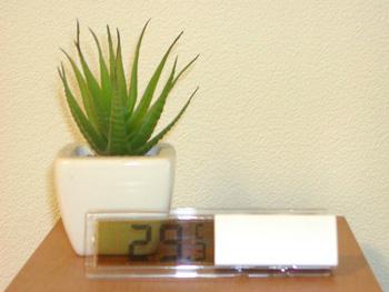 29度も涼しく感じる100円温度計