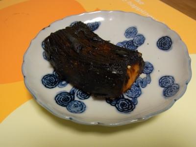 ほとんど炭のイカステーキ