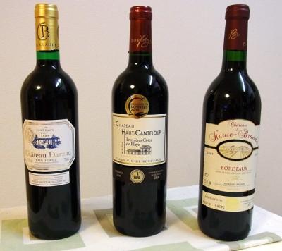 京橋ワインより金メダル6本セットの軽そうな3本