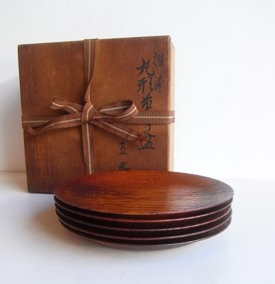 京都、漆専堂、摺漆、菓子盆、岡本専助