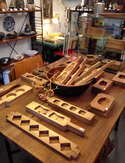 菓子型、木型、和菓子、伝統工芸、アンティーク、日本